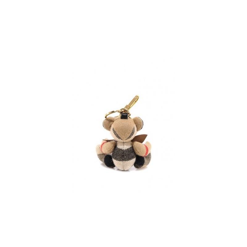 BURBERRY - Ciondolo orsetto Thomas con papillon - Archive Beige