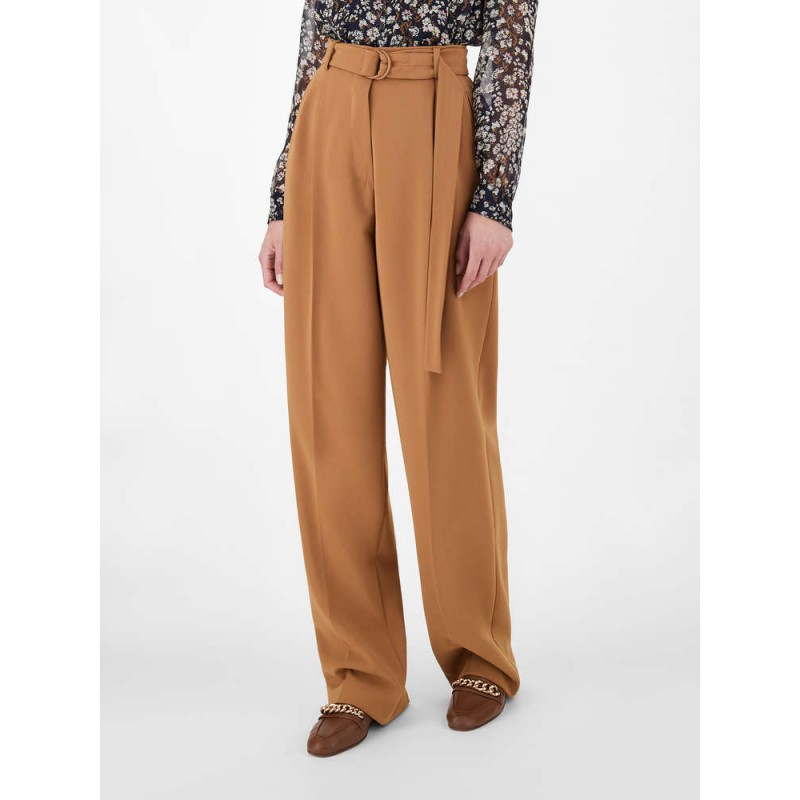 MAX MAR A STUDIO - Pantaloni in Cady FIENO  613106170 - Cognac