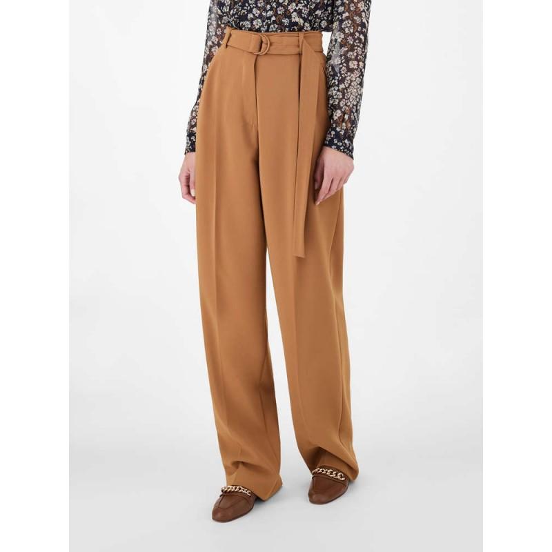 MAX MARA STUDIO  - FIENO Cady Trousers  613106170 - Cognac