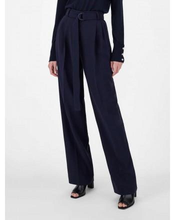 MAX MAR A STUDIO - Pantaloni in Cady FIENO  613106170 - Blu