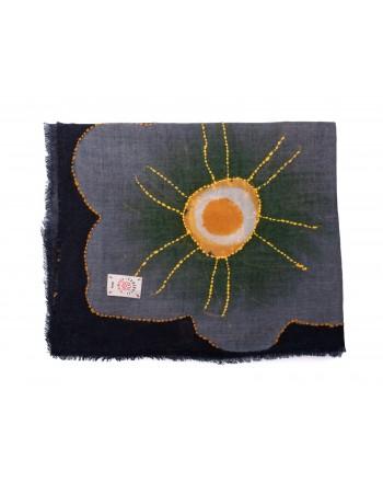 CAMERUCCI - ORTENSIA scarf wool - Blue