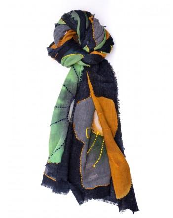 CAMERUCCI - Stola ORTENSIA in lana - Blu