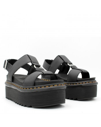 DR.MARTENS - Sandali di pelle francis con cinturino 26525001 - Nero -
