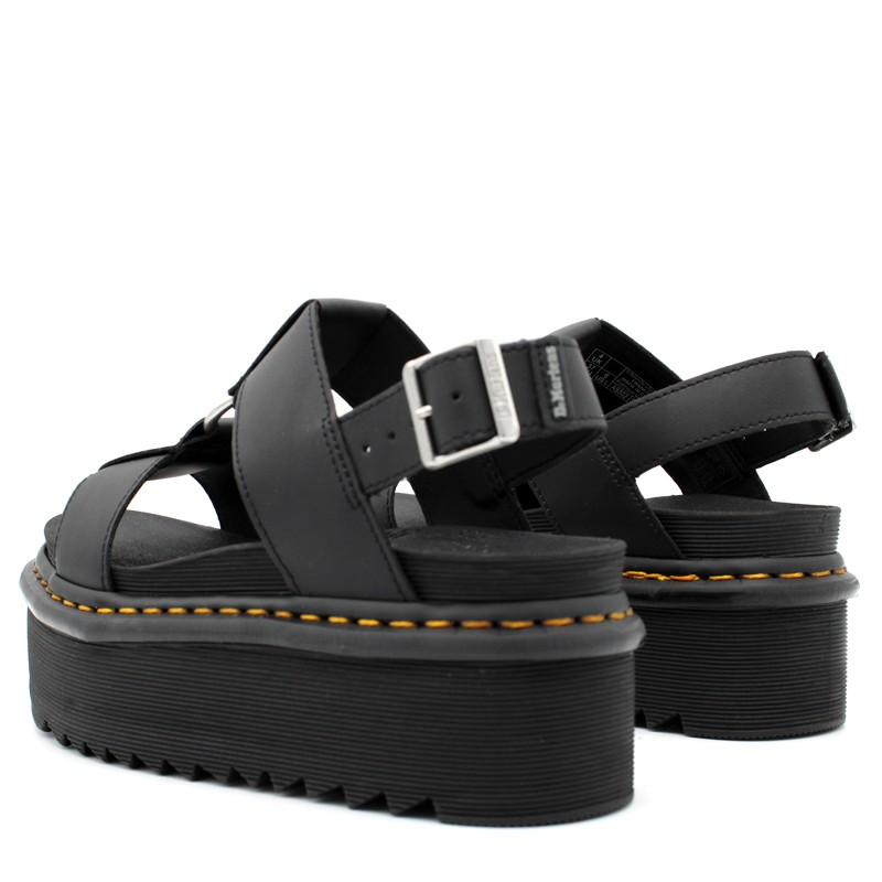 DR.MARTENS - Francis leather sandals with strap 26525001 - Black -