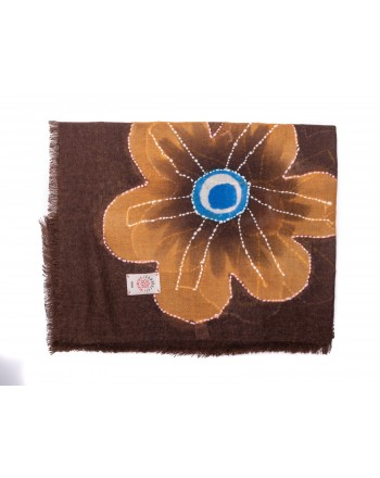 CAMERUCCI - ORTENZIA scarf wool  - Brown