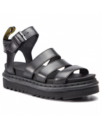 DR.MARTENS - Sandali di pelle con cinturino Blaire - Nero
