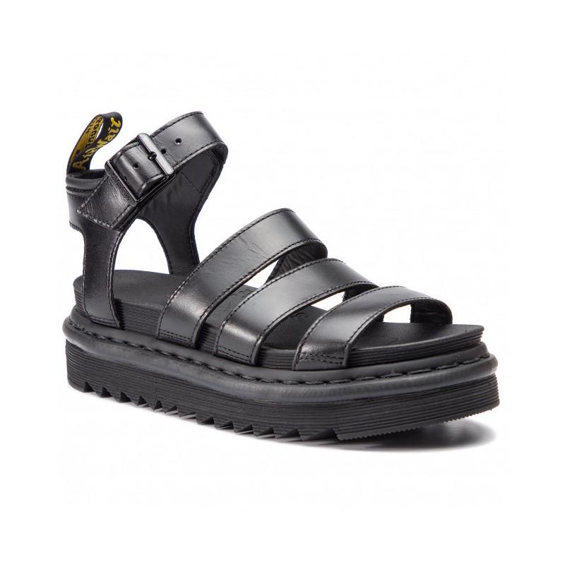 DR.MARTENS - Blaire leather sandals with strap - Black