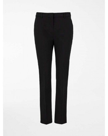 MAX MARA STUDIO- NICHEL Cotton Gabardine Trousers 613103110- Black - Black