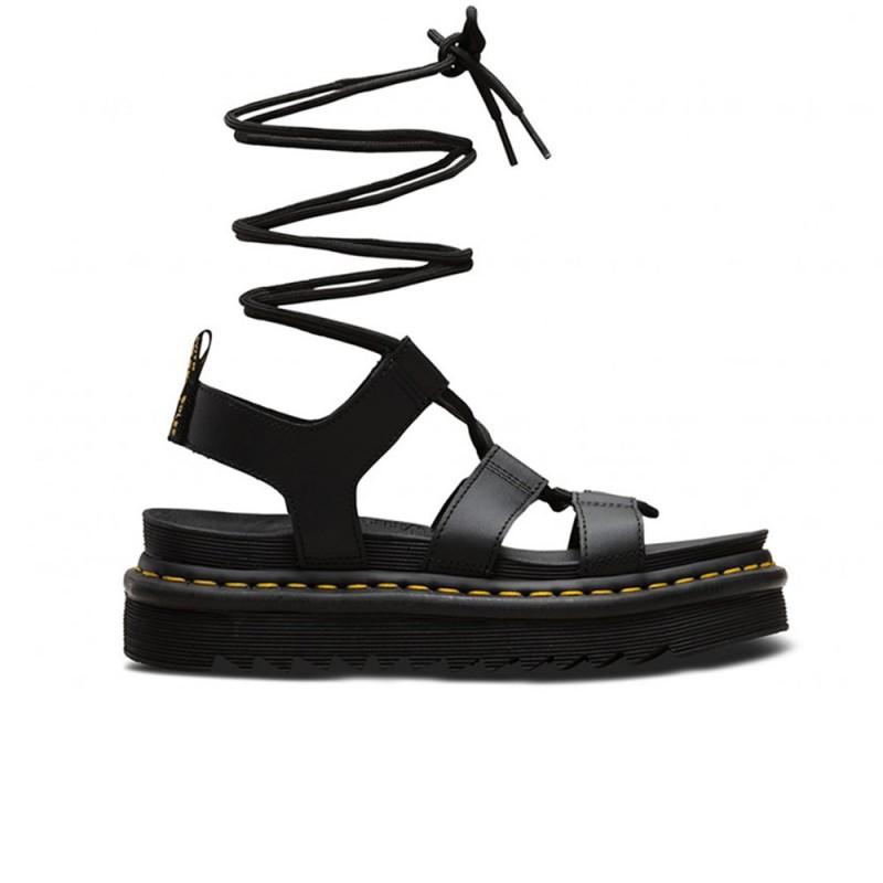 DR.MARTENS - Sandalo di pelle con lacci Nartilla - Nero -