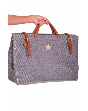 PIN-UP STARS - PA002XB Full Mirrors Shopping Bag - Antique Pink