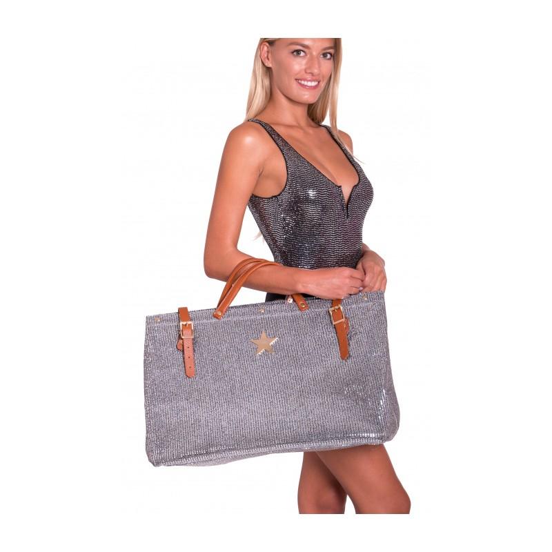 PIN-UP STARS - Borsa Shopping Full Specchietti PA002XB - Rosa Antico