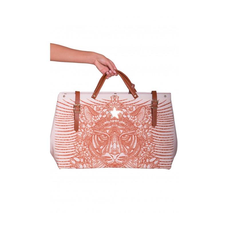 PIN-UP STARS - Animal Cool Shopping Bag PA003XB - Natural -