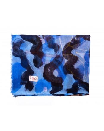CAMERUCCI - ROSA scarf wool - Light Blue