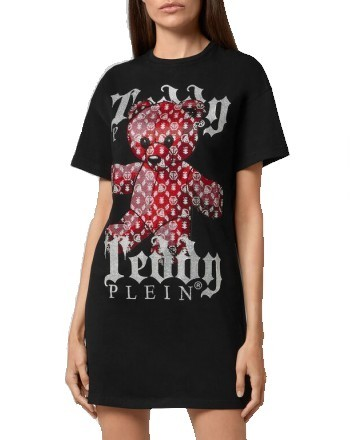 PHILIPP PLEIN - Abito T-Shirt TEDDY BEAR - Nero