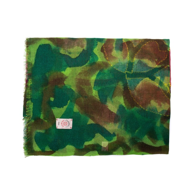 CAMERUCCI - ROSA scarf wool - Green
