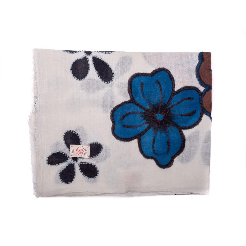CAMERUCCI - ORTENZIA scarf wool - Cream