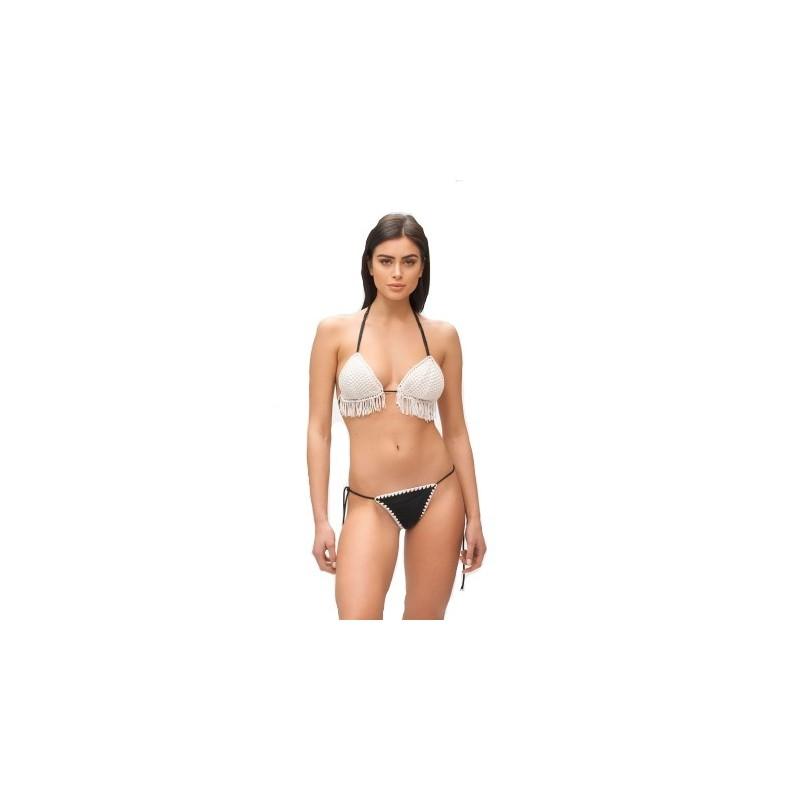 ME FUI - MOONLIGHT Triangle Bikini M210055- White/Black