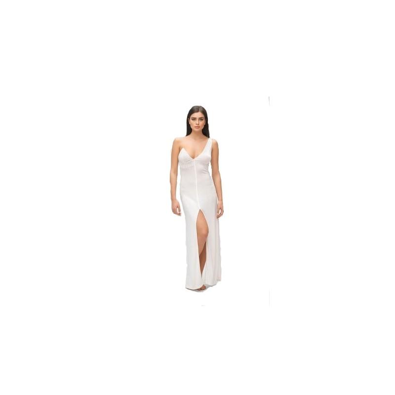 ME FUI - Abito Monospalle MOONLIGHT M210062- Bianco