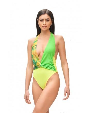 ME FUI - Costume Monokini HOT TROPIC M210464 - Verde/Lime