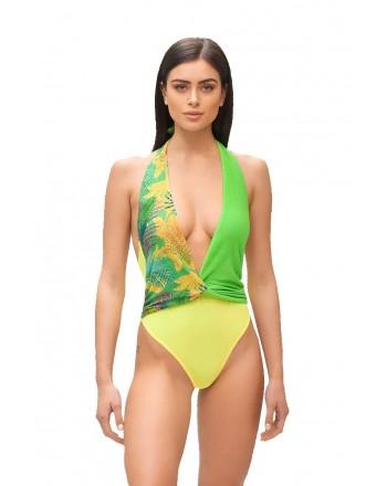 ME FUI - HOT TROPIC Monokini M210464- Green/Lime