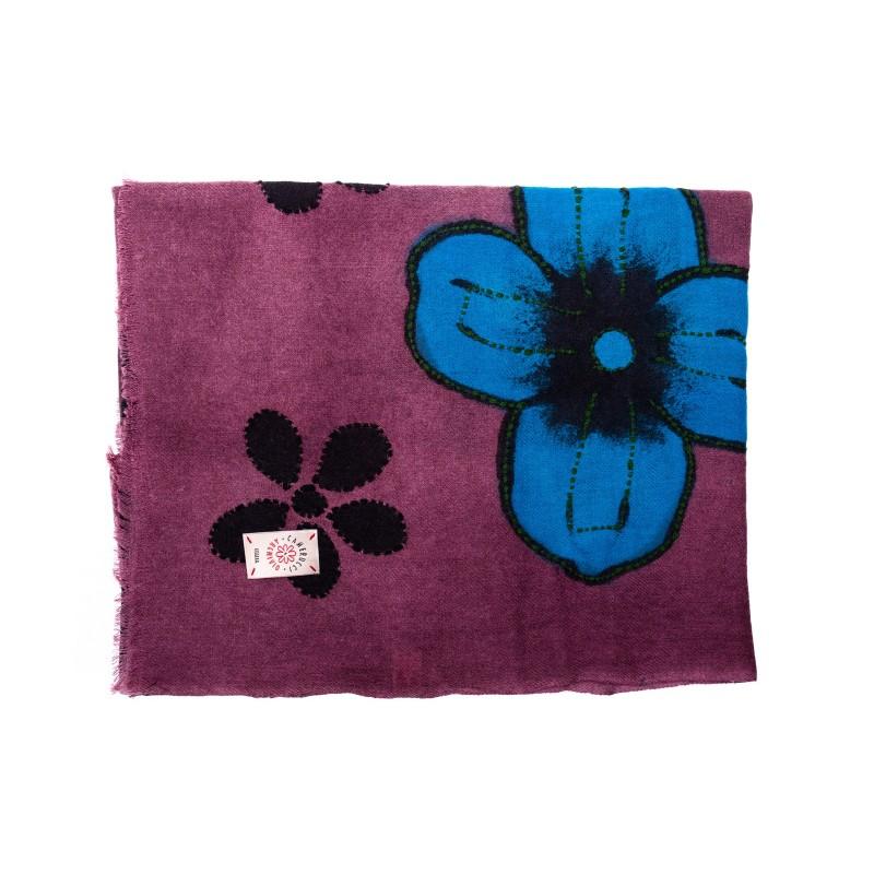 CAMERUCCI - ORTENZIA scarf wool - Wine