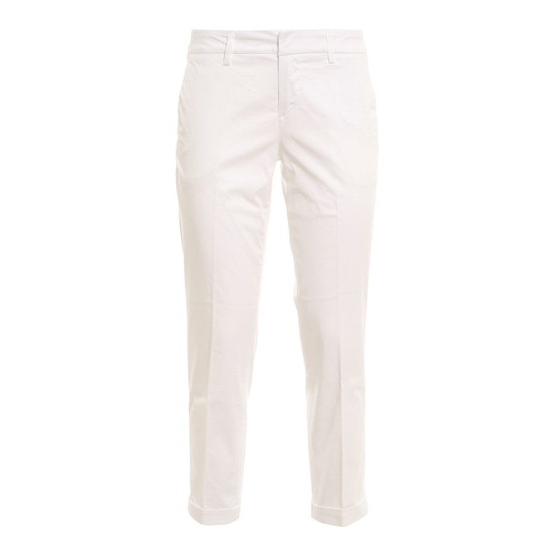 FAY - Stretch cotton trousers NTW8042530TGUPB001- White