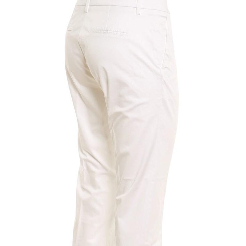 FAY - Pantaloni in cotone Stretch NTW8042530TGUPB001- Bianco