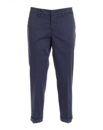 FAY - Stretch cotton trousers NTW8042530TGUPU810 - Blue