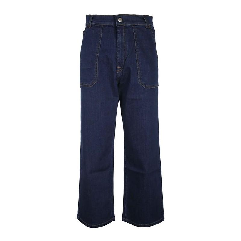 FAY - Pantalone 5 tasche - Blu Denim