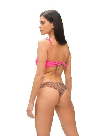 ME FUI - HOT TROPIC Band Bikini M210463- Animalier/Fuchsia