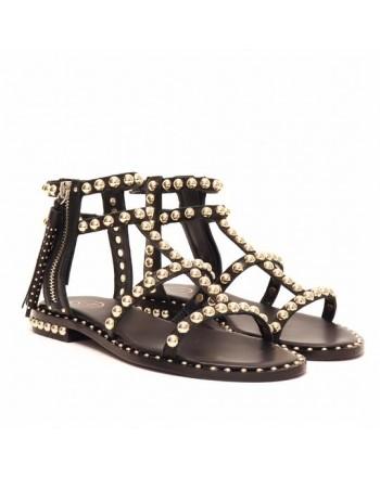 ASH - POWER studs sandals - Black/Ariel