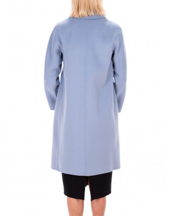 MAX MARA STUDIO - TISBE coat in Pure New Wool  - Cielo