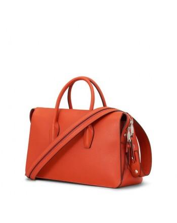 TOD'S - Medium Leather Bag  - Orange