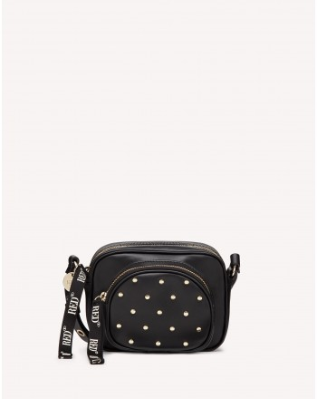 RED VALENTINO - RED DOUBLE DISCO Shoulder Bad - Black