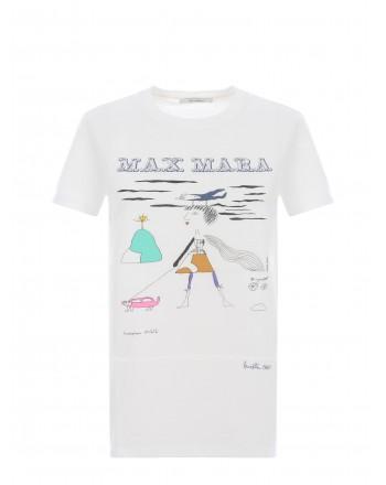 MAX MARA  - Maglia in Cotone BAMBINA - Bianco Seta