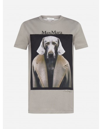MAX MARA - DOGSTAR Cotton T-Shirt - Pearl Grey