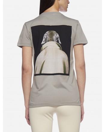 MAX MARA - T-Shirt in Cotone DOGSTAR - Grigio Perla