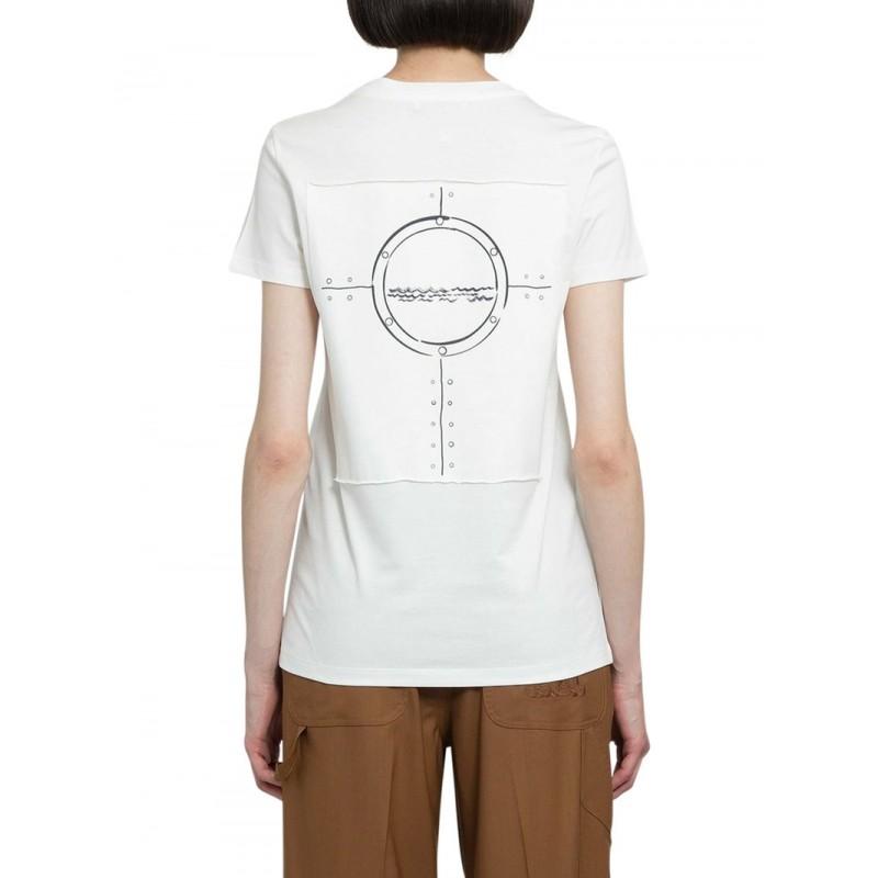MAX MARA  - T-Shirt in Cotone OBLO - Bianco Seta