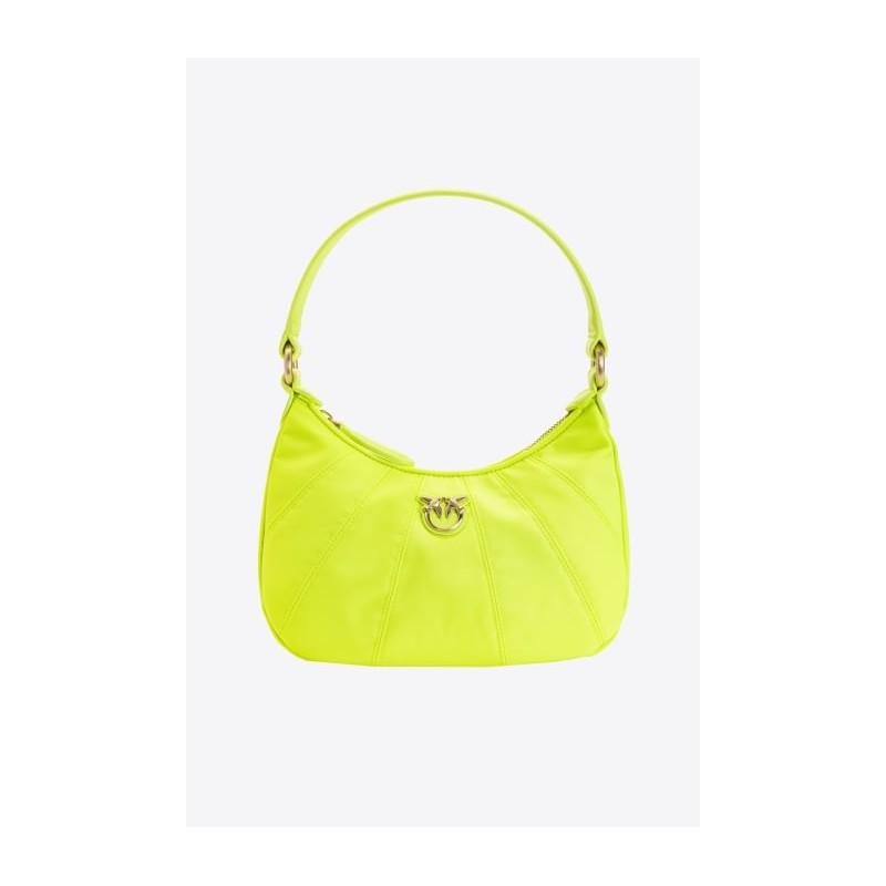 PINKO - MINI LOVE BAG HALF MOON FULL COLOR - Fluo Yellow