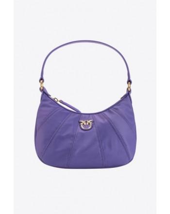 PINKO -MINI LOVE BAG HALF MOON FULL COLOR - Lilac