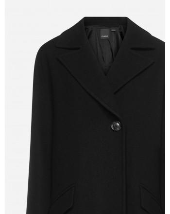 PINKO - Blended Wool ACARAGUA Coat - Black Limousine