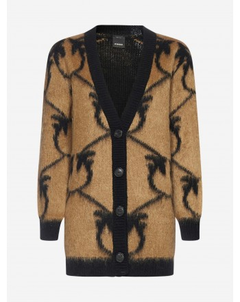 PINKO - Blended Wool Cardicoat ADELPHI - Camel/Black