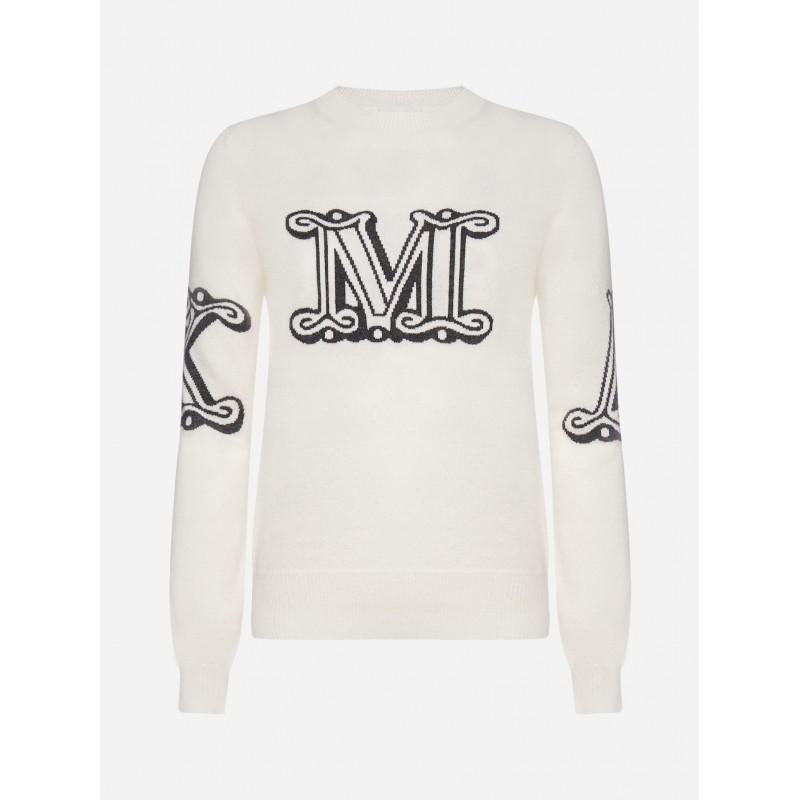 MAX MARA - KUBAN Cashmere Knit - White/Charcoal