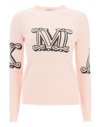 MAX MARA - KUBAN Cashmere Knit - Powder Pink/Charcoal