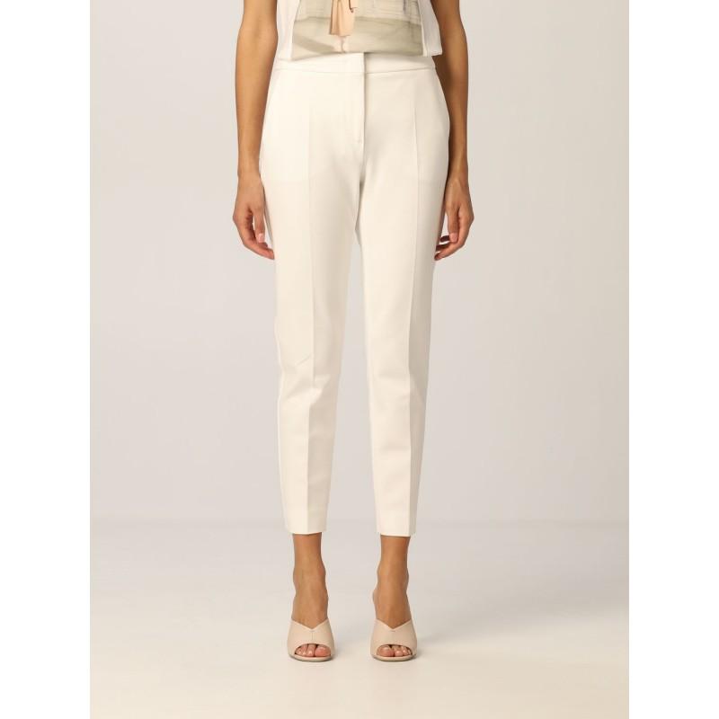 MAX MARA - Pantalone in Jersey PEGNO - Bianco Seta