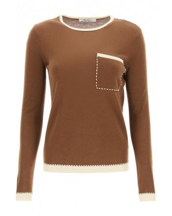 MAX MARA - RADA Cashmere Knit - Leather/White