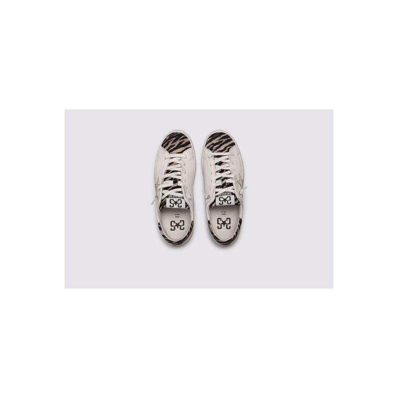 2 STAR- Sneakers 2S3219-094 Leather - White / black zebra