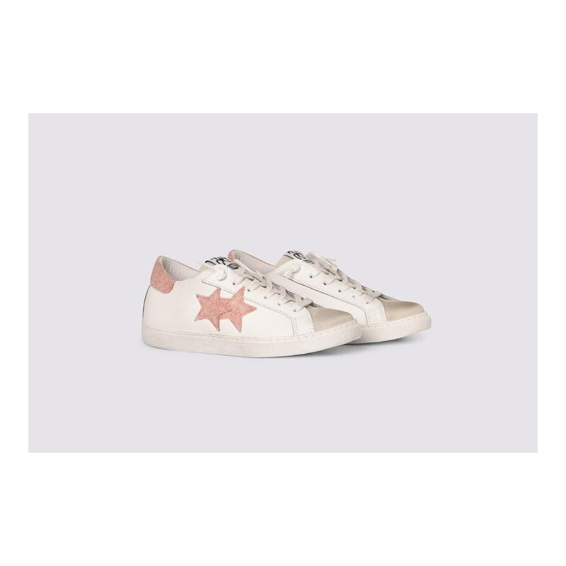 2 STAR- Sneakers 2S3221-072  Leather - White/Ice/Powder
