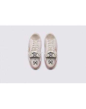 2 STAR- Sneakers 2S3221-072 Pelle - Bianco/Ghiaccio/Cipria