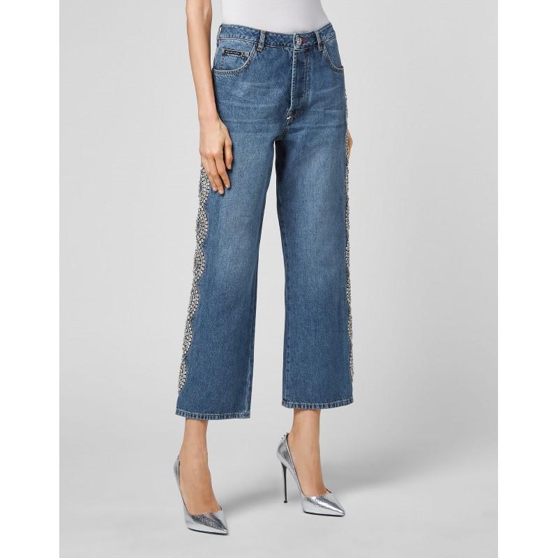 PHILIPP PLEIN - Jeans CRYSTAL CABLE- Denim
